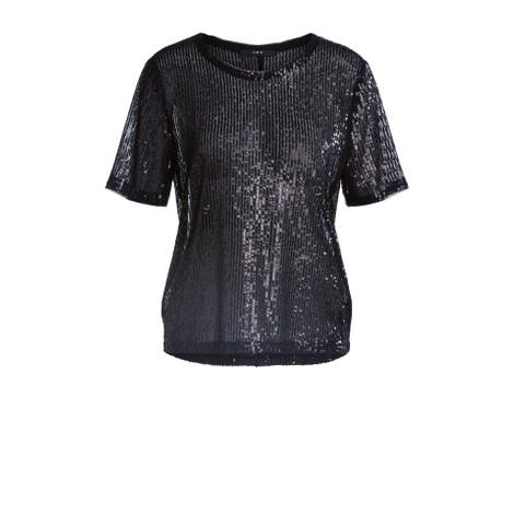 Set Sequin Top in Black