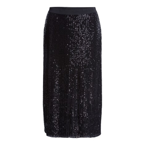 Set Midi Sequin Skirt in Black