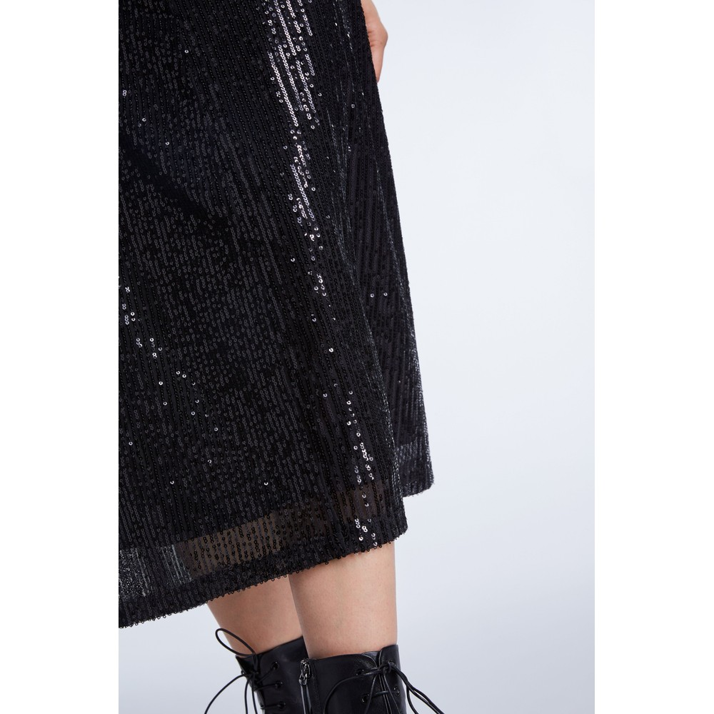Set Midi Sequin Skirt Black
