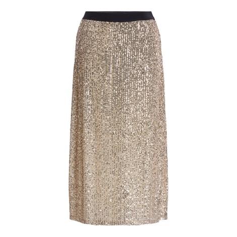 Set Midi Sequin Skirt in Gold