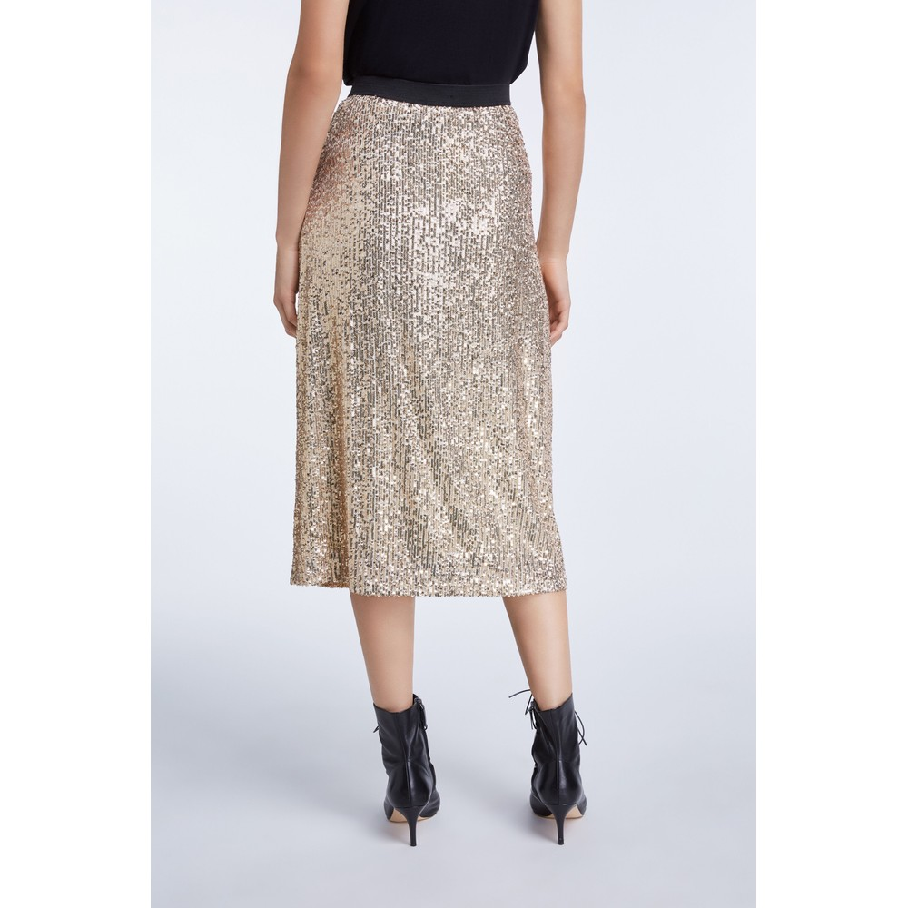Set Midi Sequin Skirt Gold