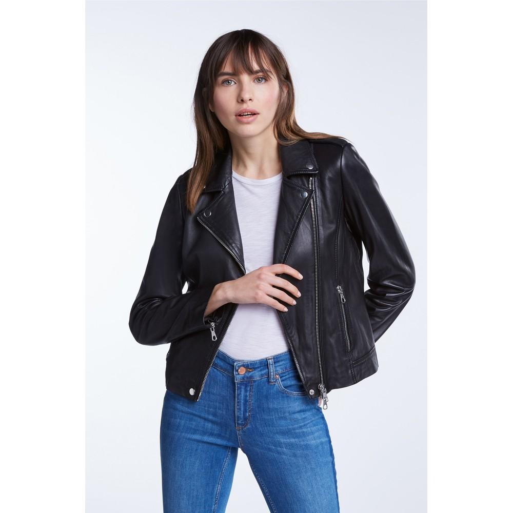 Set Tyler Leather Jacket Black