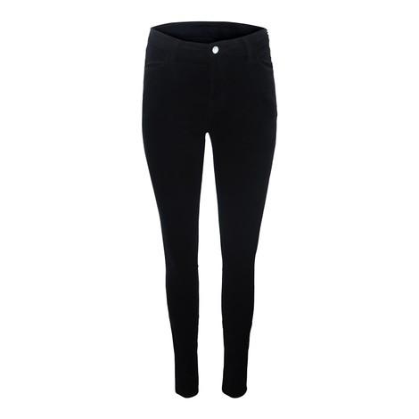 J Brand Maria Highrise Velvet Nightout Skinny Jean