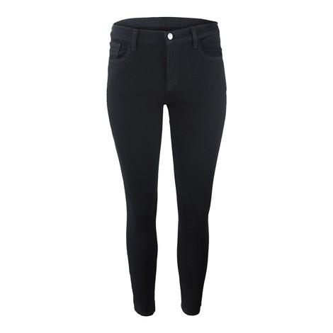 J Brand 835 Midrise Cropped Skinny Leg Crystal Black