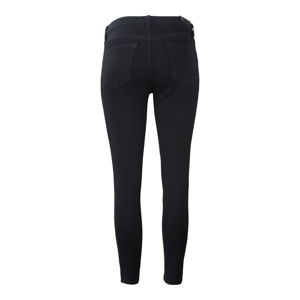J Brand 835 Midrise Cropped Skinny Leg Crystal Black Black