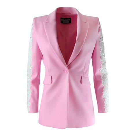 Moschino Boutique Lace Insert Jacket