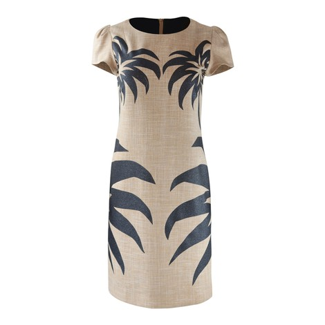 Moschino Boutique Palm Tree Print Dress