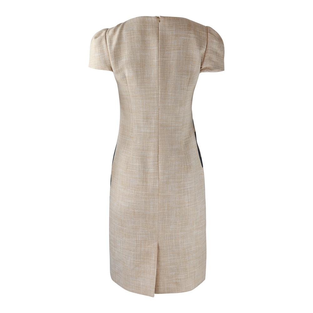 Moschino Boutique Palm Tree Print Dress Beige
