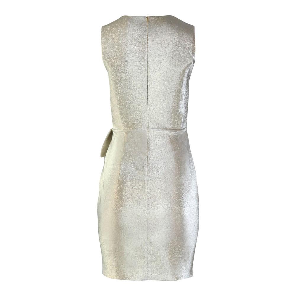 Moschino Boutique Sleeveless Lamé Dress Gold