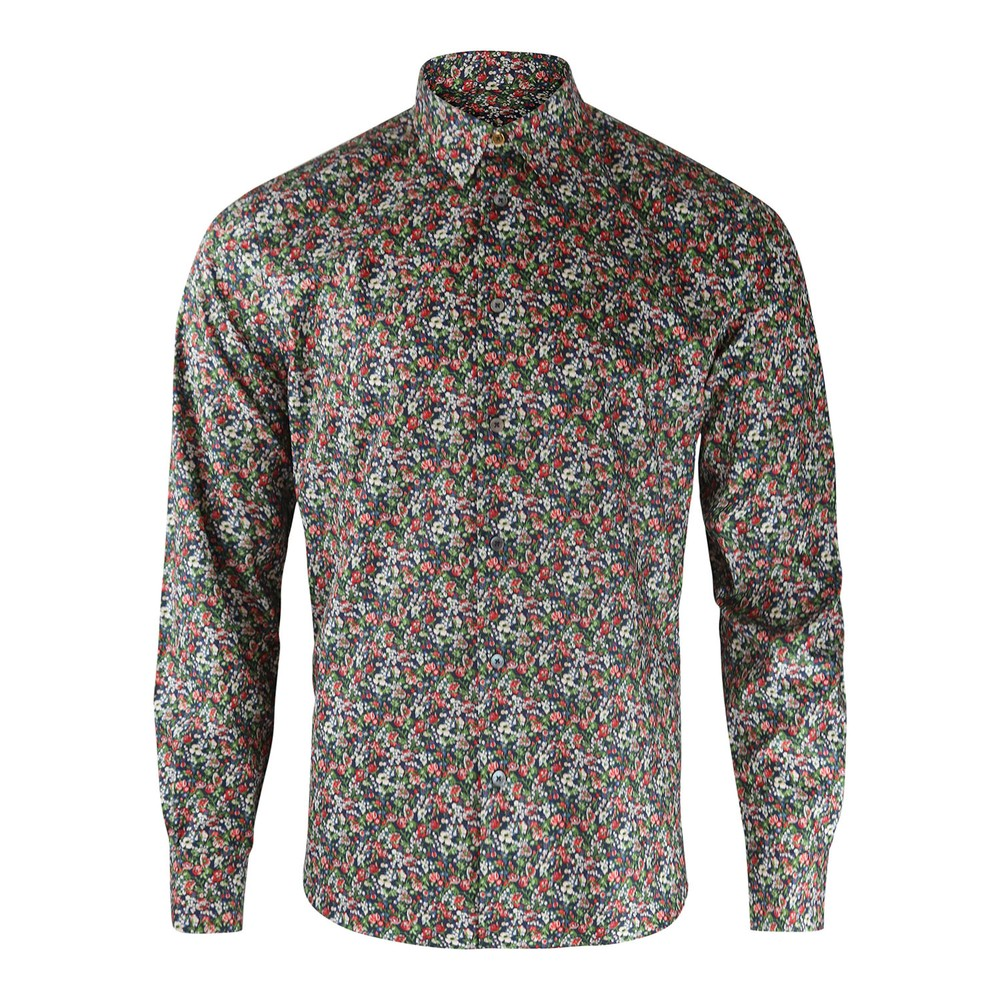 Paul Smith Floral Print Shirt Navy