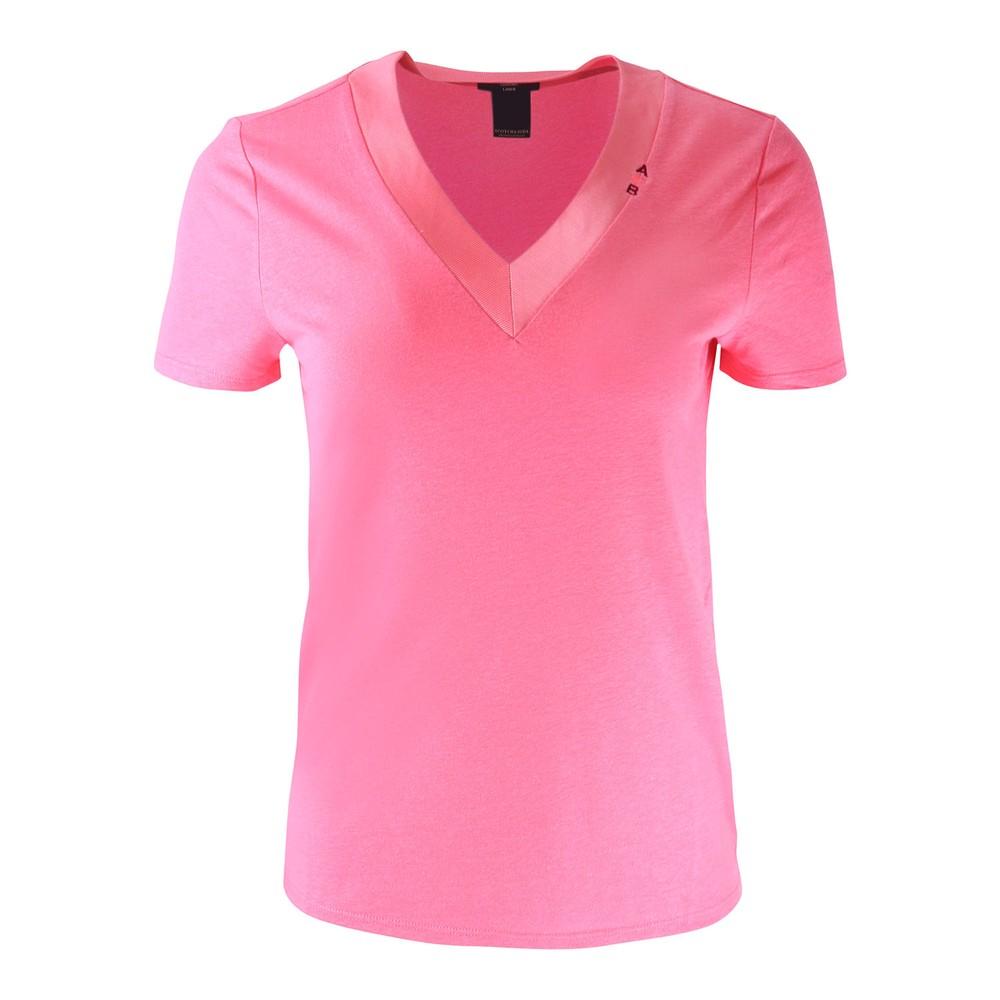 Scotch & Soda V Neck T-Shirt Pink