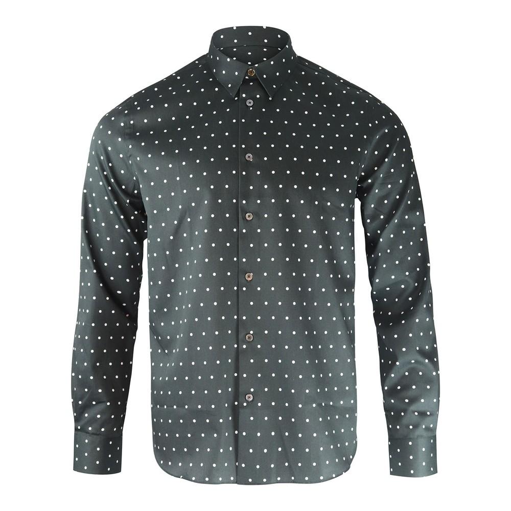 Paul Smith Polka Dot Print Shirt Black