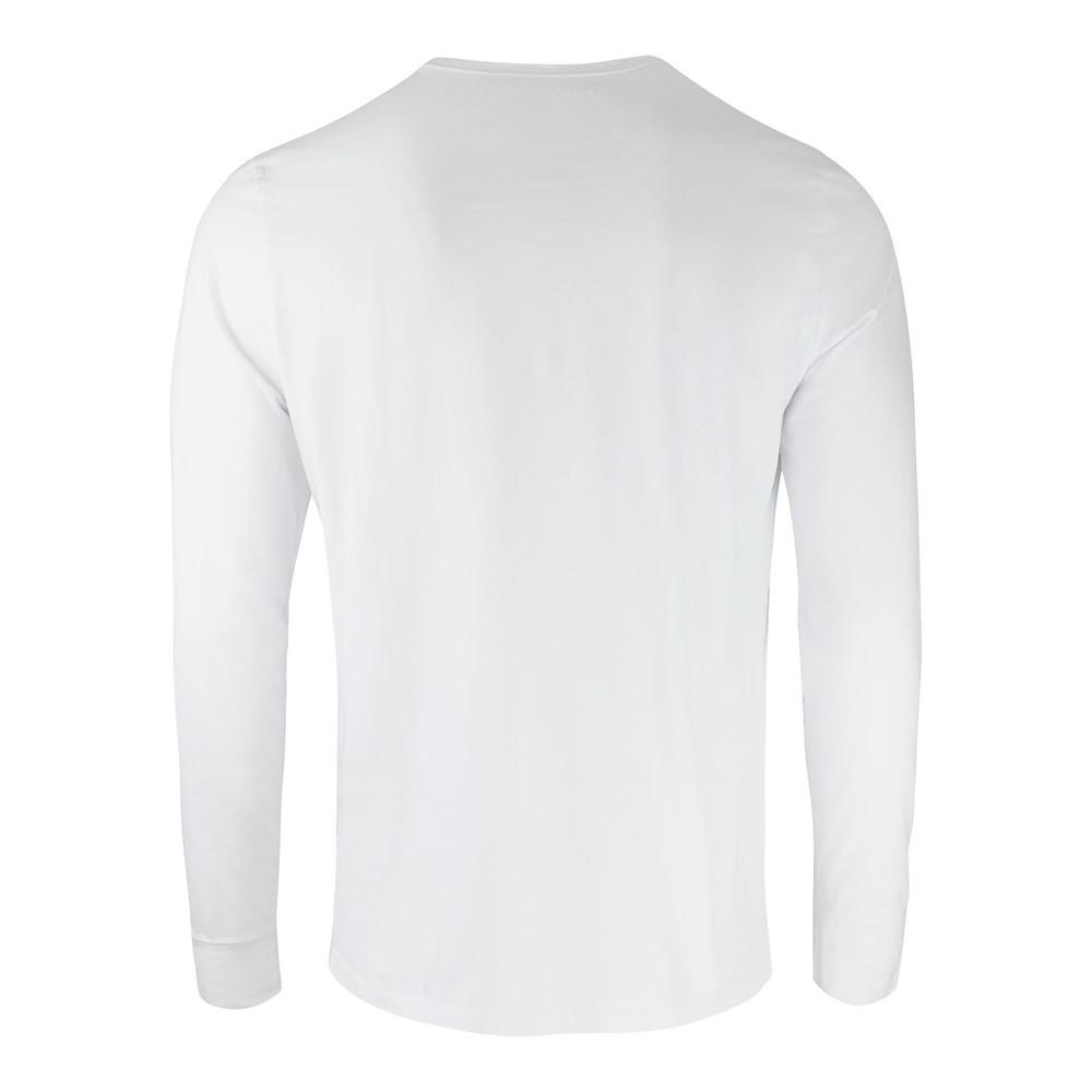 True Religion Longsleeve Baseball Embroidered White