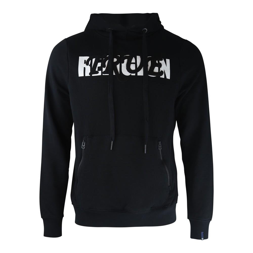 True Religion Hoodie Baseball Embroidered Logo Black