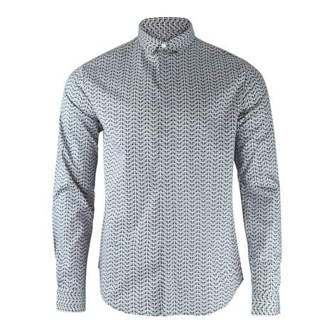 Emporio Armani Poplin Shirt All-Over Logo