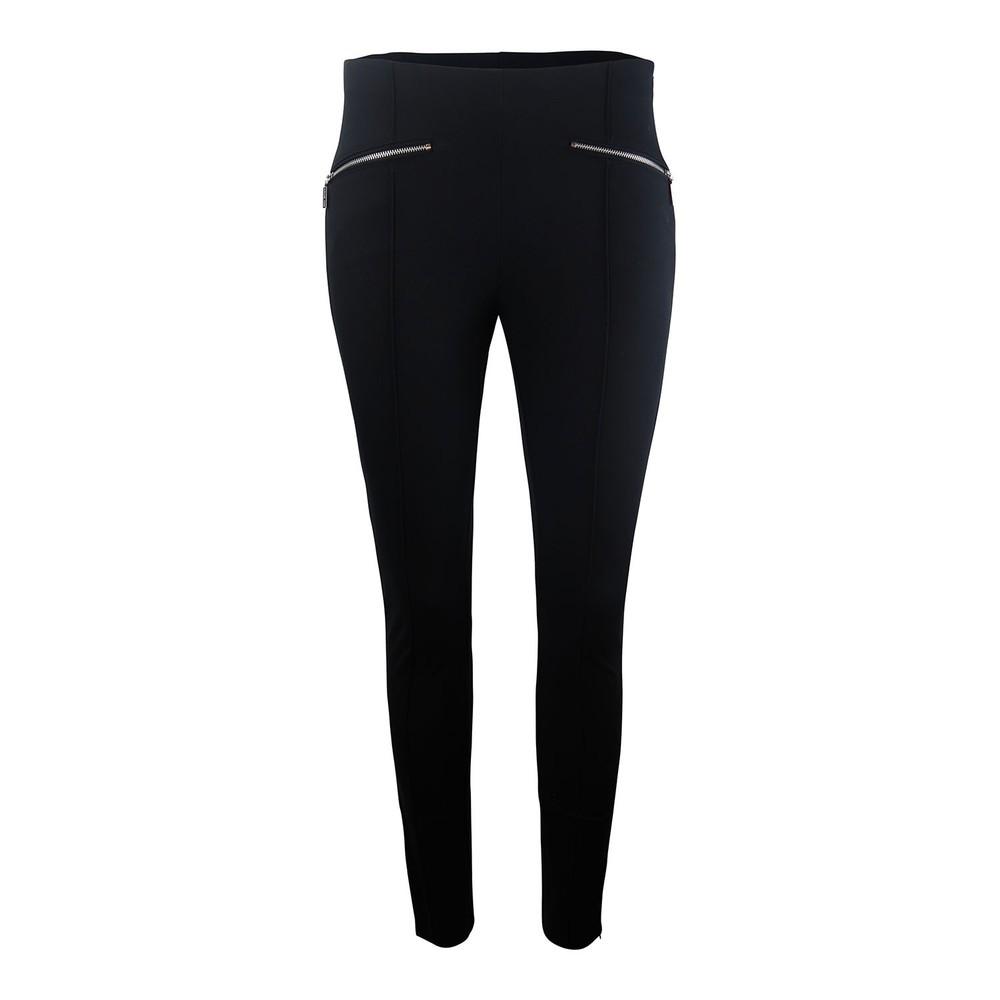 Michael Kors Hutton Cotton-Blend Leggings Black