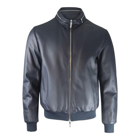 Emporio Armani Nappa Leather Bomber Jacket