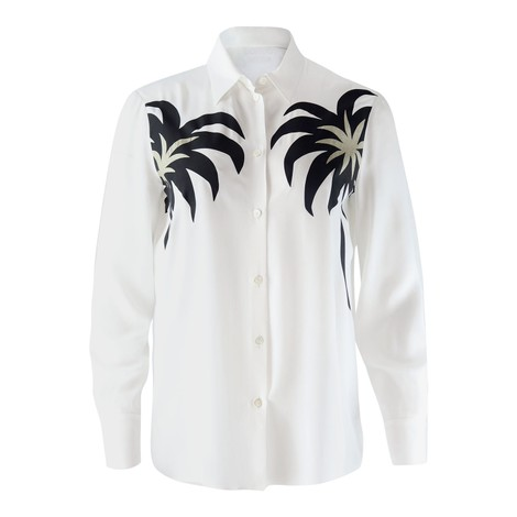 Moschino Boutique Long Sleeve Palm Detail Blouse