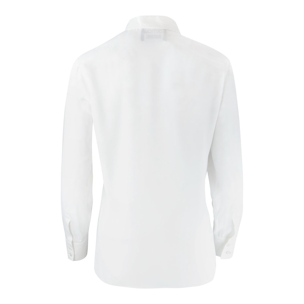 Moschino Boutique Long Sleeve Palm Detail Blouse White