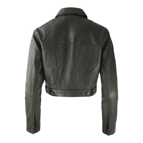 Michael Kors Leather Denim Jacket