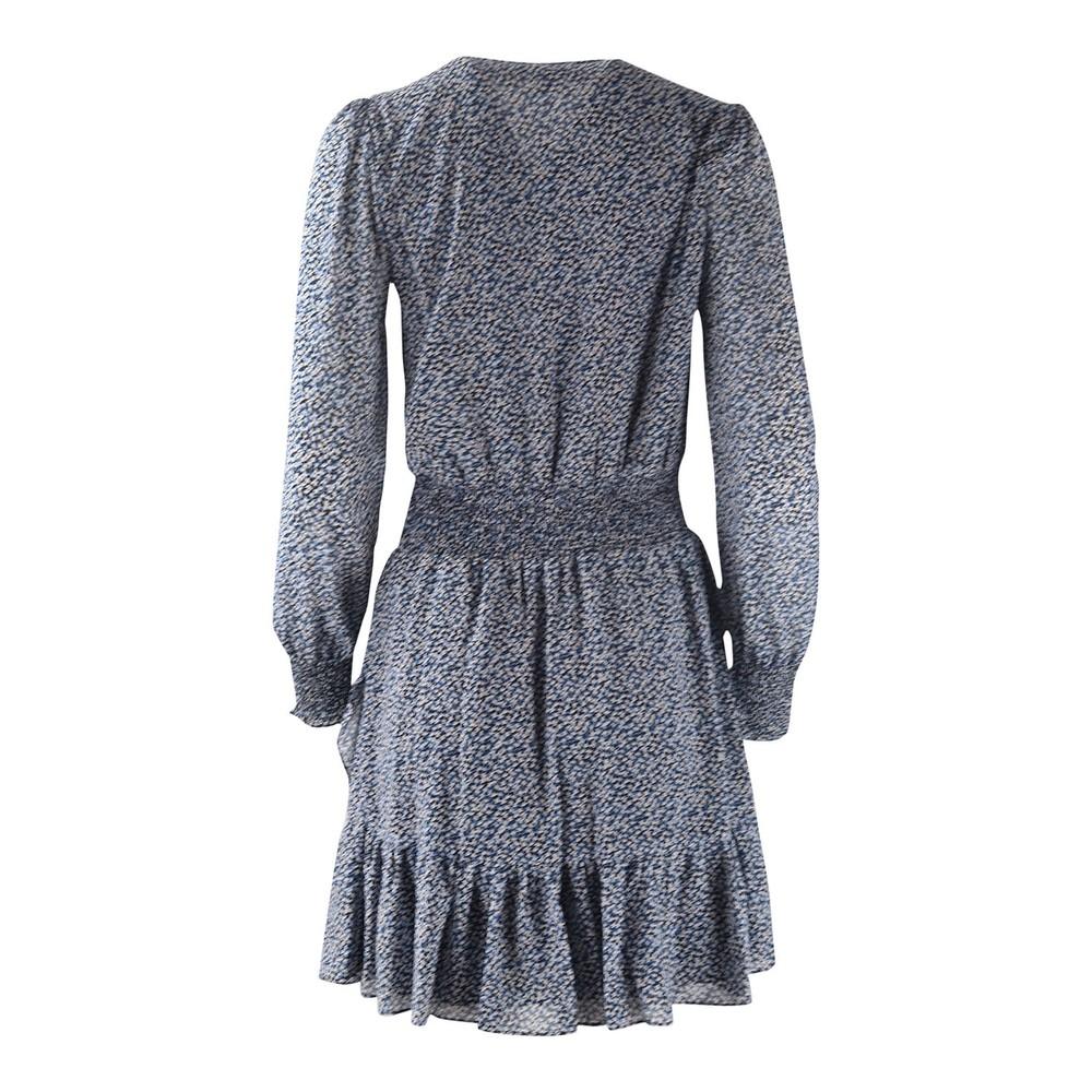 Michael Kors Ruffle Dress Blue