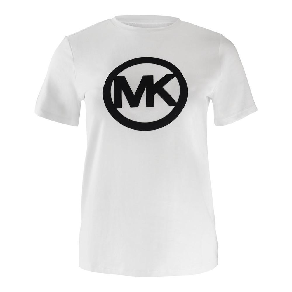 Michael Kors Circle Logo Flock Tee White