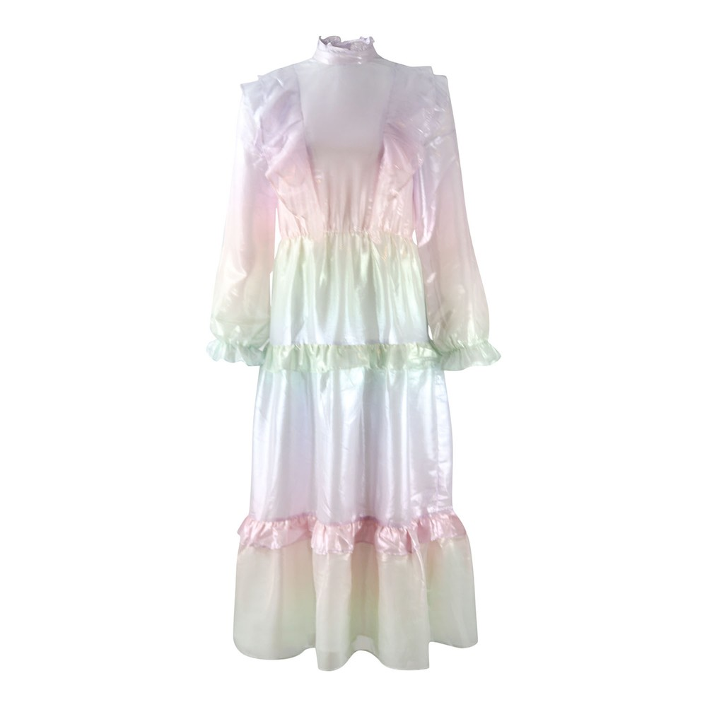 Olivia Rubin Pastel Ombré Dress Metallic