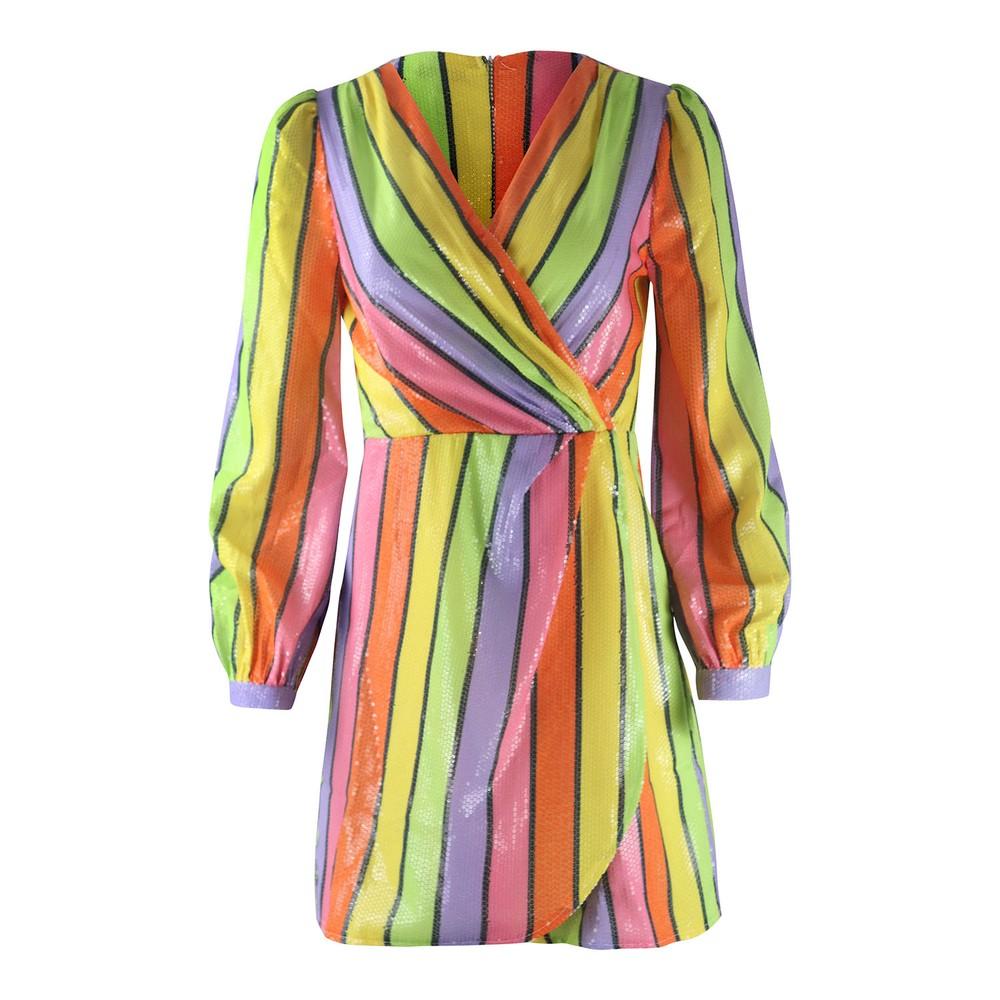 Olivia Rubin Meg Rainbow Mini Dress Multi