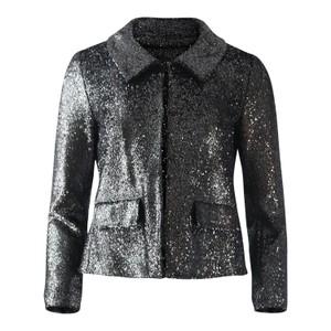 Moschino Boutique Silver Lurex Short Jacket