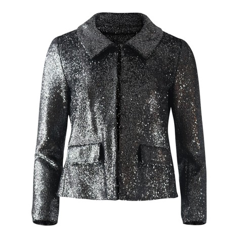 Moschino Boutique Silver Lurex Short Jacket