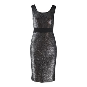 Moschino Boutique Silver Lurex Fitted Dress