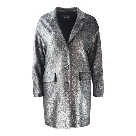 Moschino Boutique Silver Lurex Coat