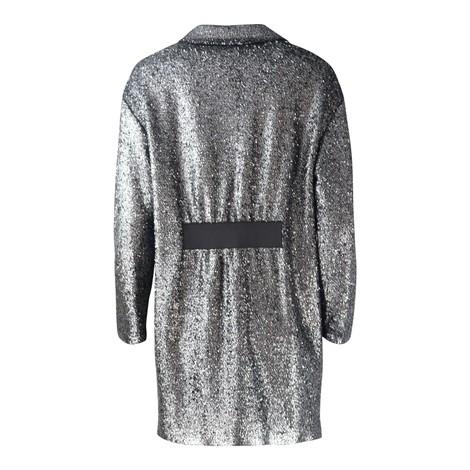Moschino Boutique Silver Lurex Coat