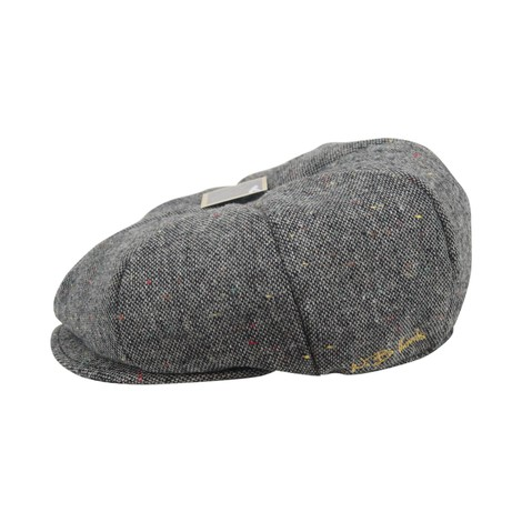 WB Threads Newsboy Style Flat Cap in Grey