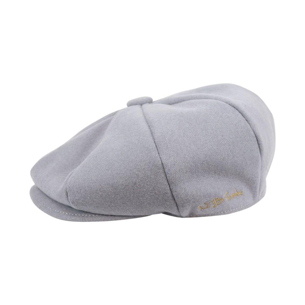 WB Threads Newsboy Style Flat Cap Light grey