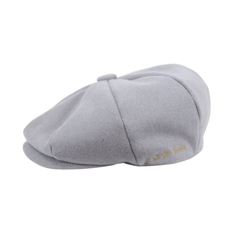 WB Threads Newsboy Style Flat Cap in Light grey