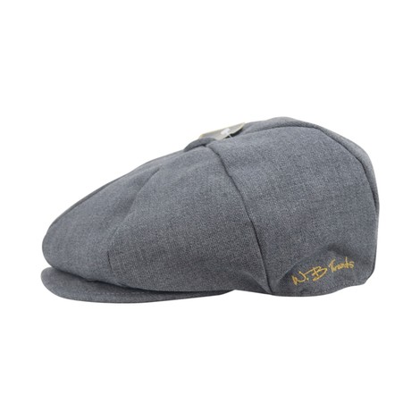 WB Threads Newsboy Style Flat Cap in Charcoal