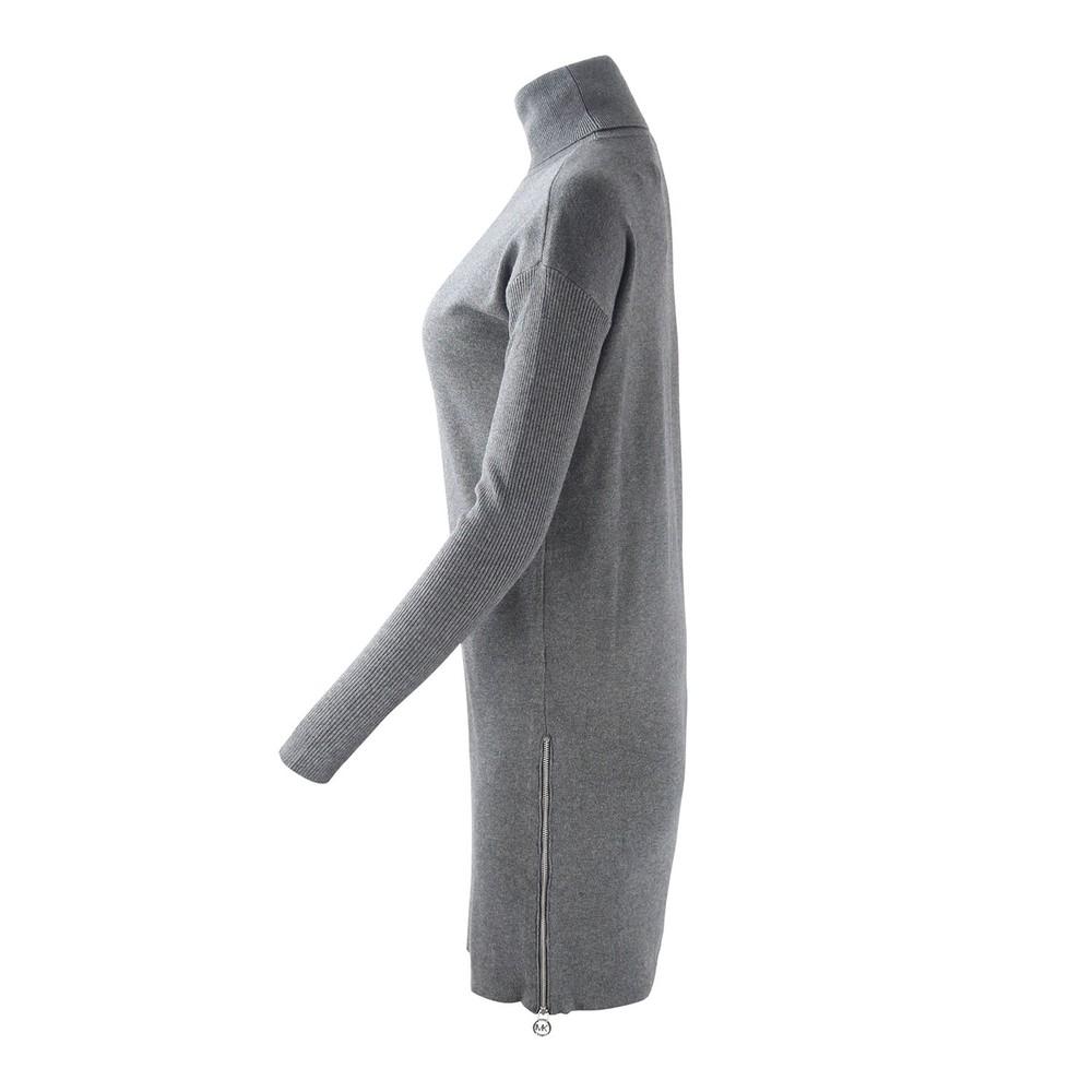 Michael Kors Turtle Neck  Zip Sweater Dress Grey