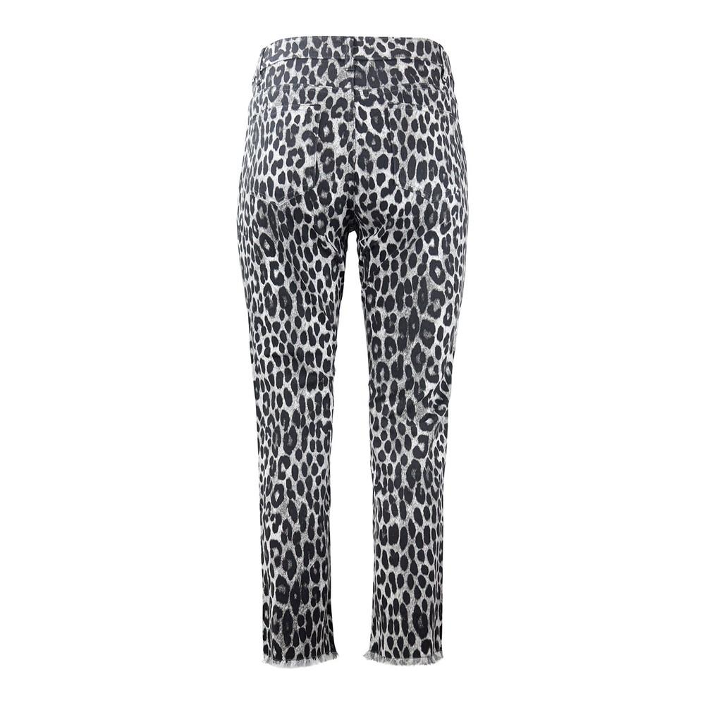 Michael Kors Cheetah Cropped Jeans Grey Metallic
