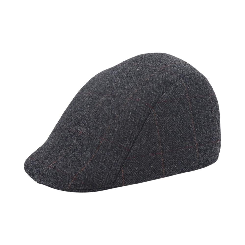 Paul Smith Tweed Wool Flat Cap Black