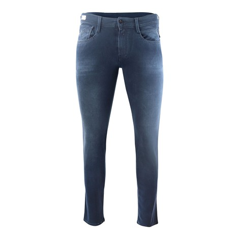 Replay Anbass Hyperflex+ Bi-Stretch Blue/Black Denim