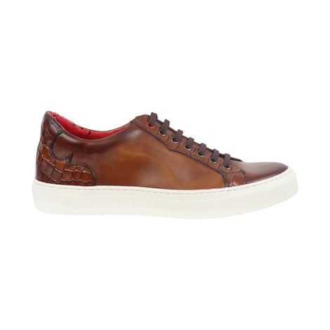 Jeffery West Apolo Castano Leather Croco Trainers