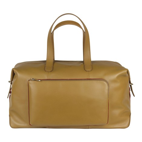 Paul Smith Tan Soft Leather Weekend Bag