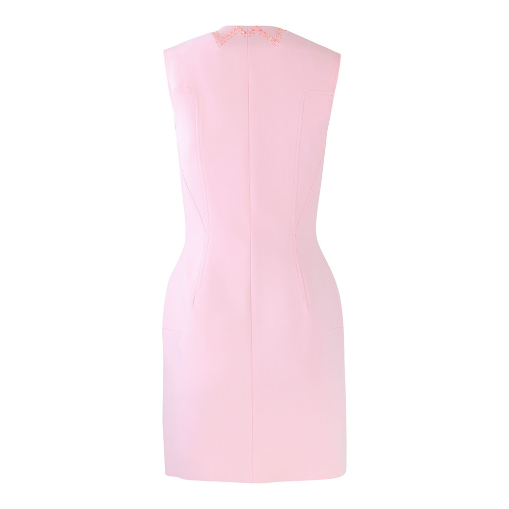 Versace Collection Zip Through Dress with Pink Crystals Pink