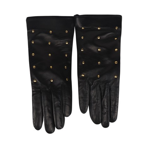 Marella Black Stud Leather Gloves