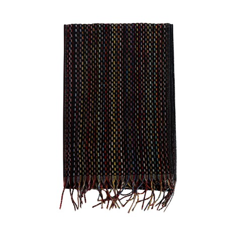 Paul Smith Basket Weave Signature Stripe Cashmere Scarf