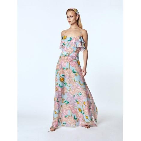 Hayley Menzies Luna Floral Maxi Frill Dress