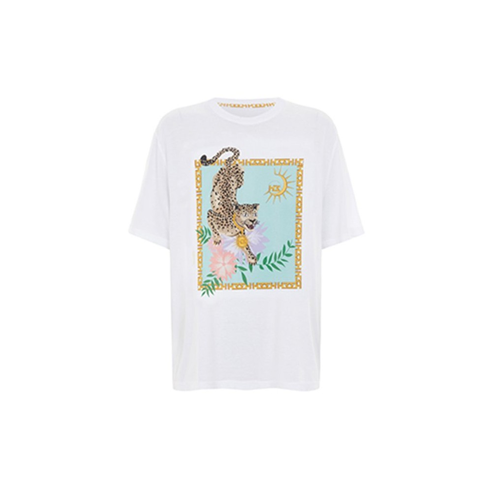 Hayley Menzies Enchanted Leopard T-Shirt White