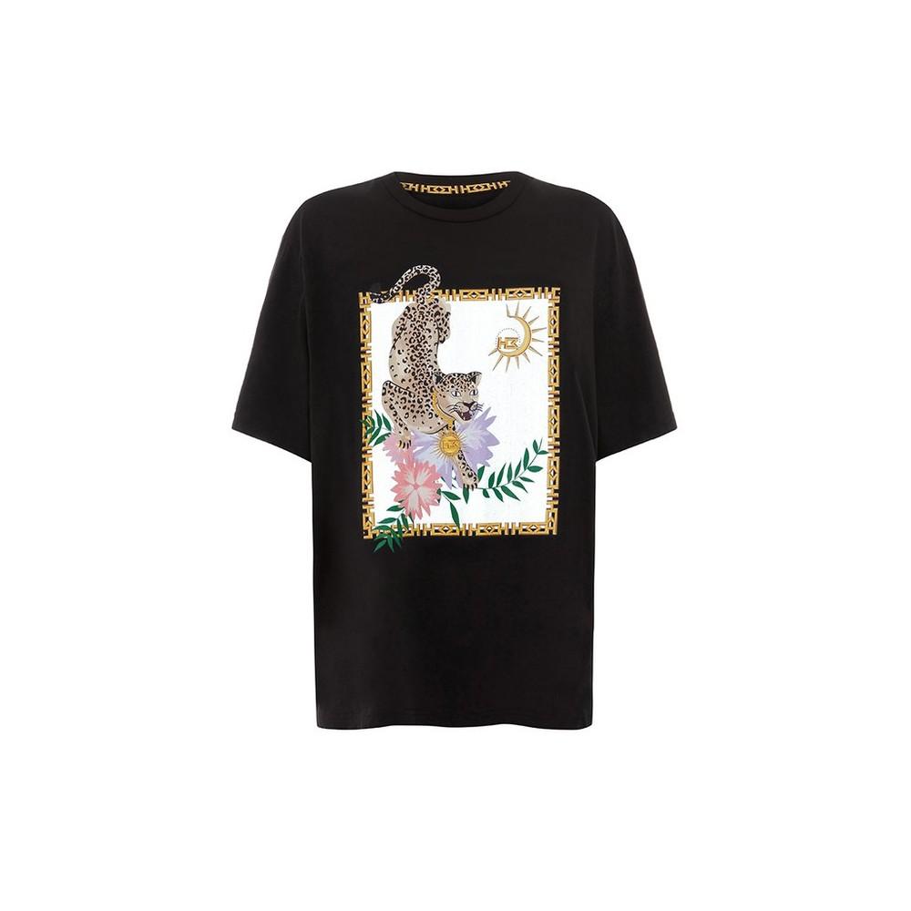Hayley Menzies Enchanted Leopard T-Shirt Black