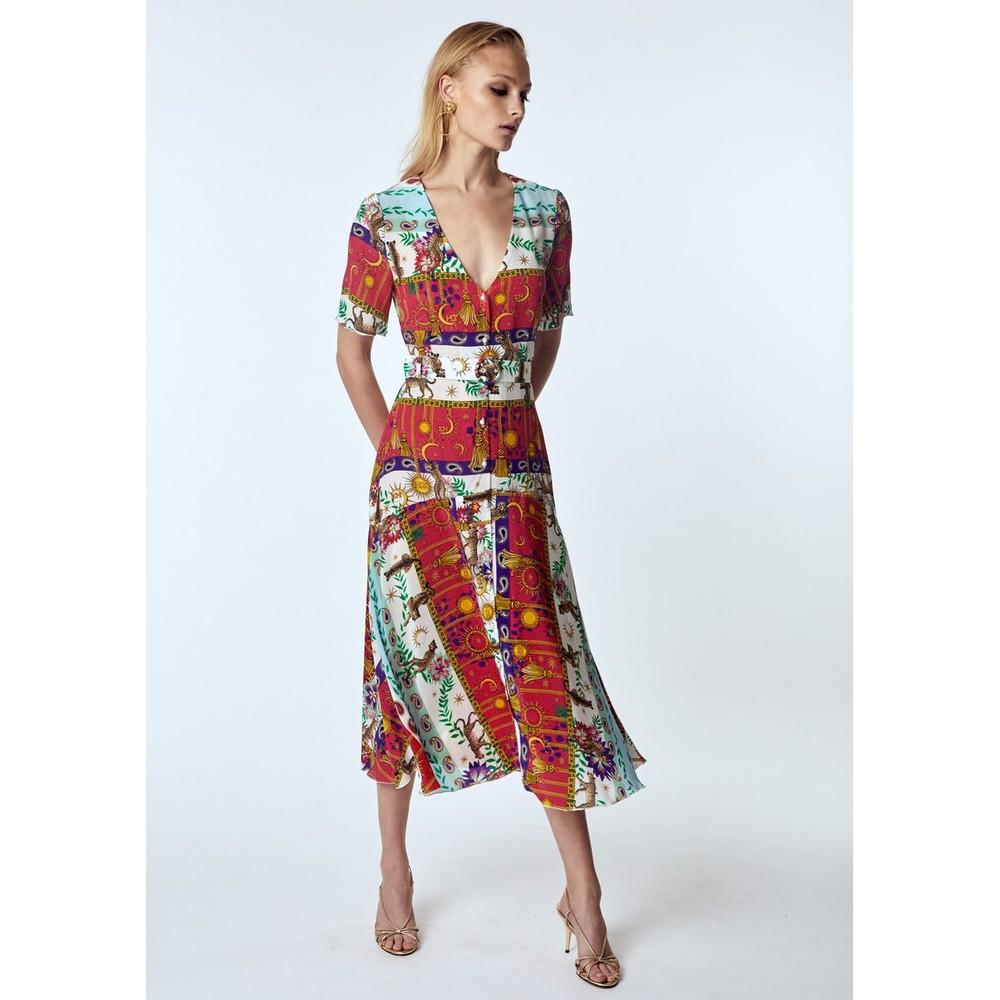 Hayley Menzies  Enchanted Leopard Midi Dress Animal Print